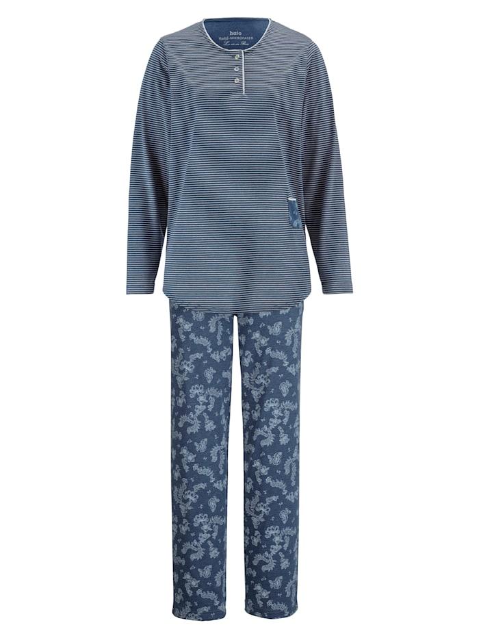 Schlafanzug mit hübschen Spitzendetails