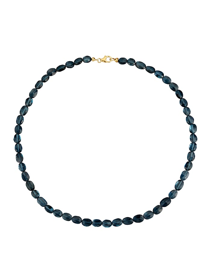 Halskette mit Blautopas, Blau