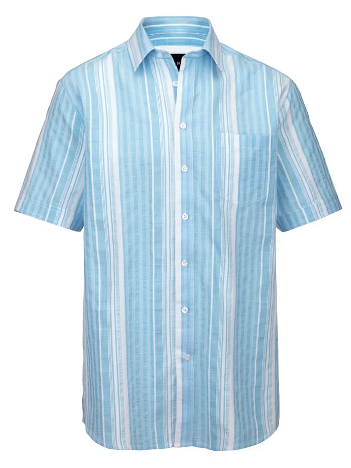 BABISTA Overhemd met ingeweven streepdessin, Blauw