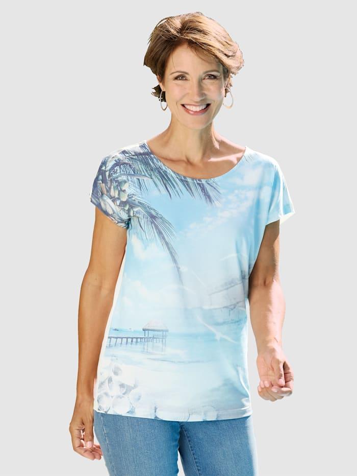 Paola Shirt mit Motivdruck, Blau