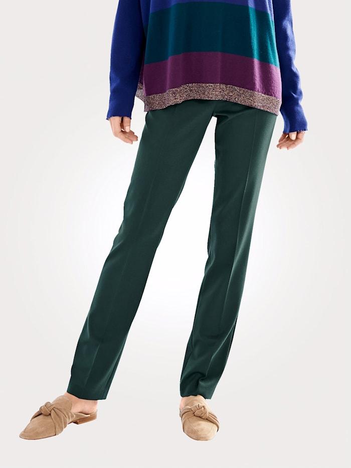 Artigiano Pantalon en laine chic, Vert foncé