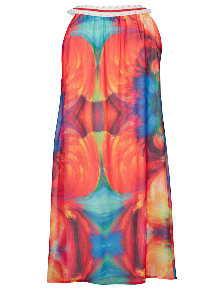 Strandkleid mit dekorativem Halsausschnitt