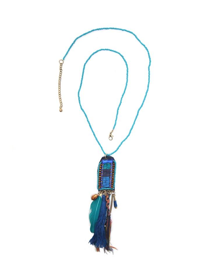 Collezione Alessandro Lange Kette Ava Modische Quaste, blau