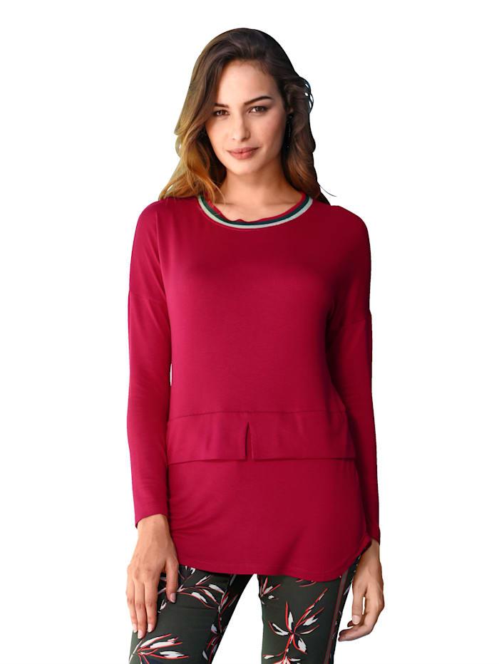 AMY VERMONT Pullover mit metallisiertem Garn, Rot