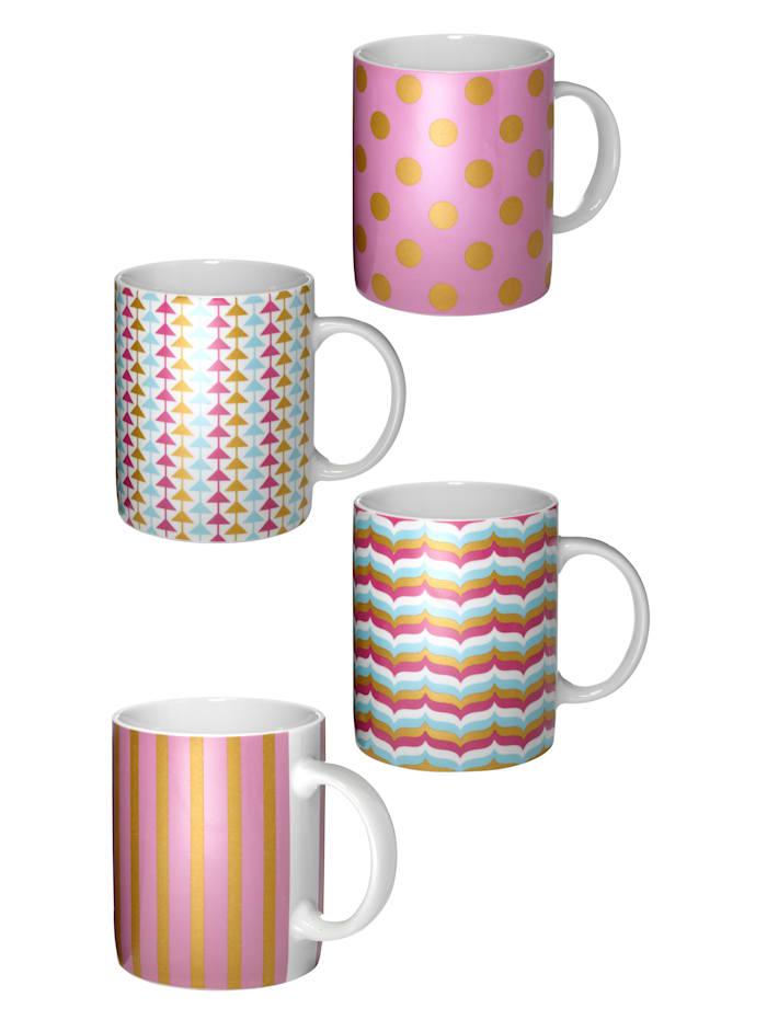 Set van4 koffiemokken Candy Kiss