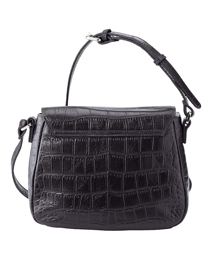Shoulder bag made from top notch embossed leather