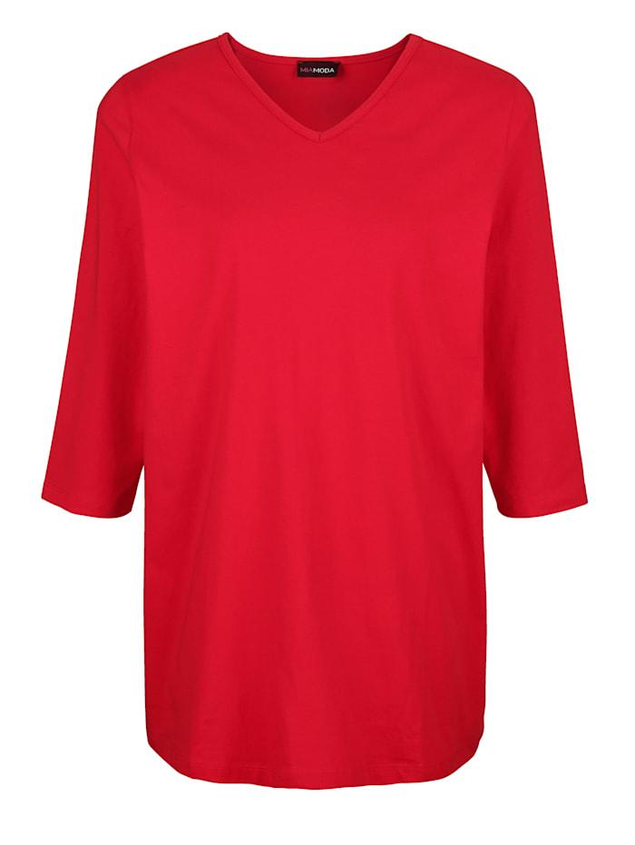 Shirt mit streckendem V-Ausschnitt