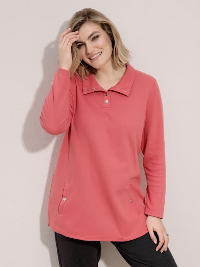 m. collection Sweatshirt met schipperskraag, Koraal