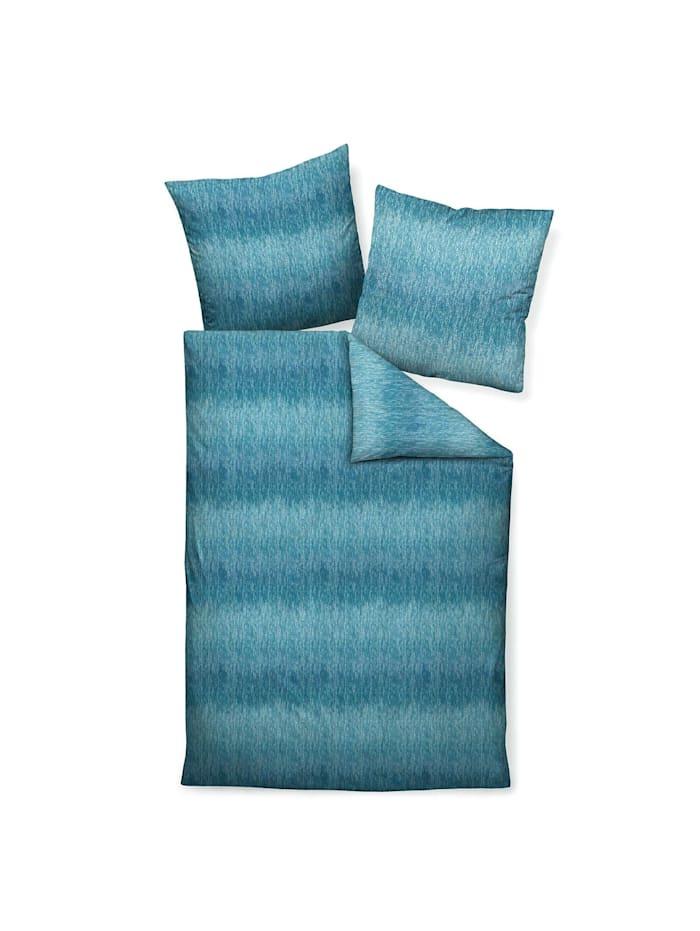 Janine Interlock Feinjersey Bettwäsche Carmen 53124-02 ägäischblau, ägäischblau