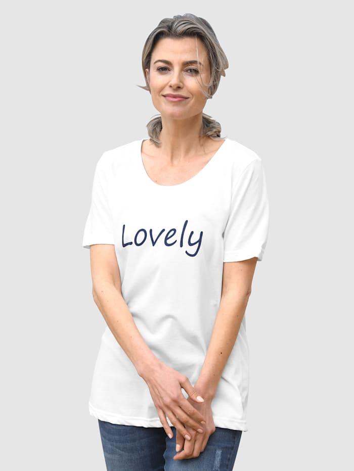 basically you Shirt mit kleinem Schriftzug, Weiß