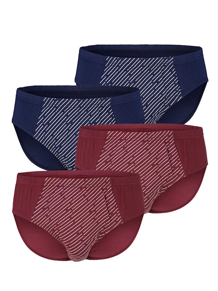 Slip in klassieke kleuren, Marine/Bordeaux