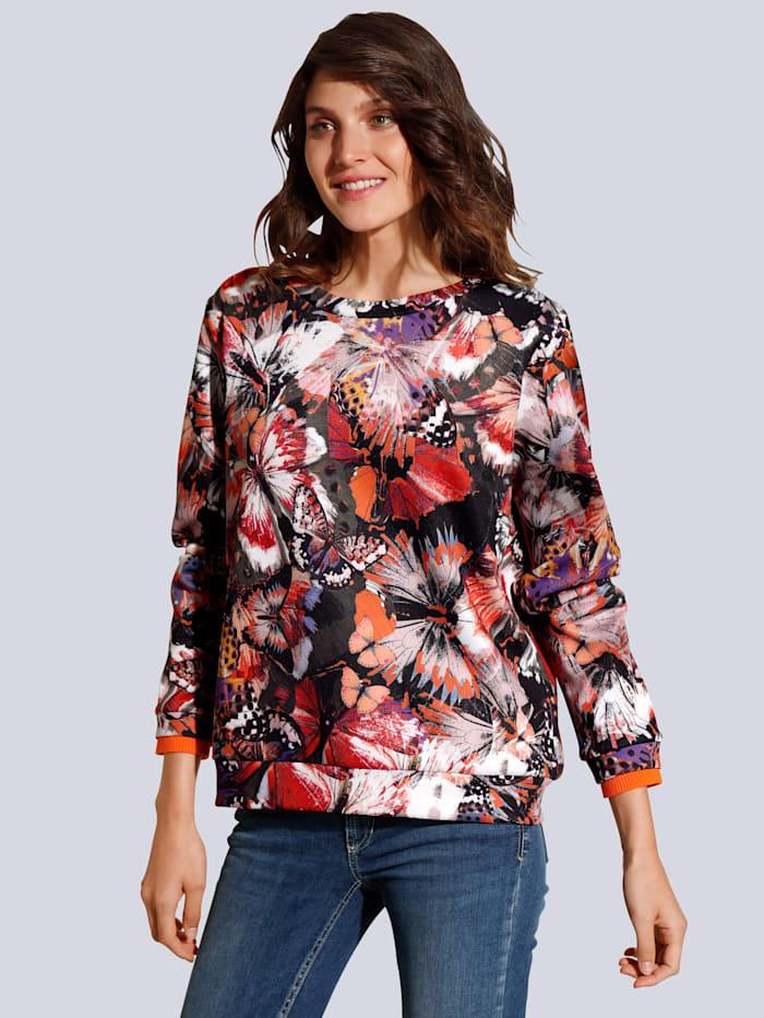 Sweatshirt mit farbenfrohen Schmetterlingen