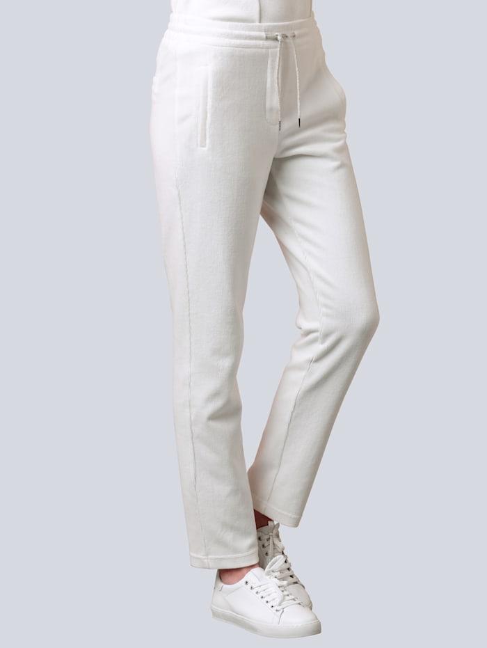 Alba Moda Hose im Jogpant-Style, Off-white