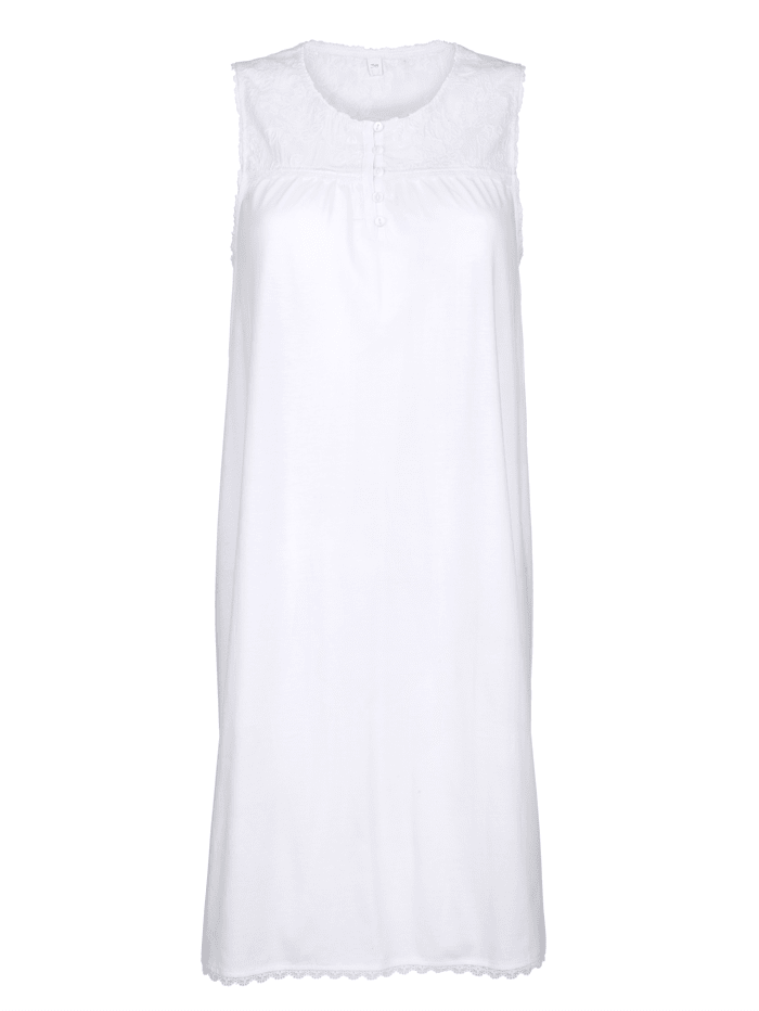 Nightdress with lace detailing