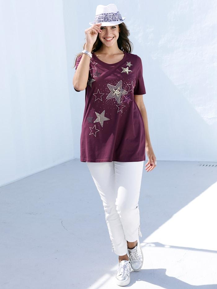 Shirt mit perlenbesetzten Sternen