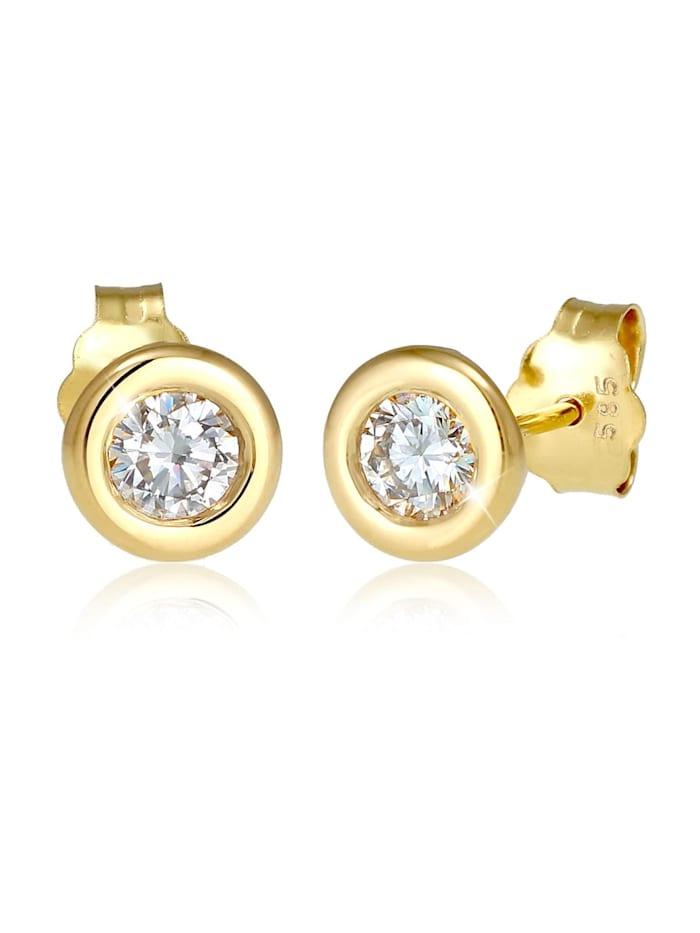 Elli Premium Ohrringe Swarovski® Created Diamond (0.34 Ct.) 585 Gelbgold, Gold