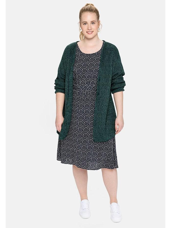 Sheego Kleid aus nachhaltiger Viskose, nachtblau bedruckt