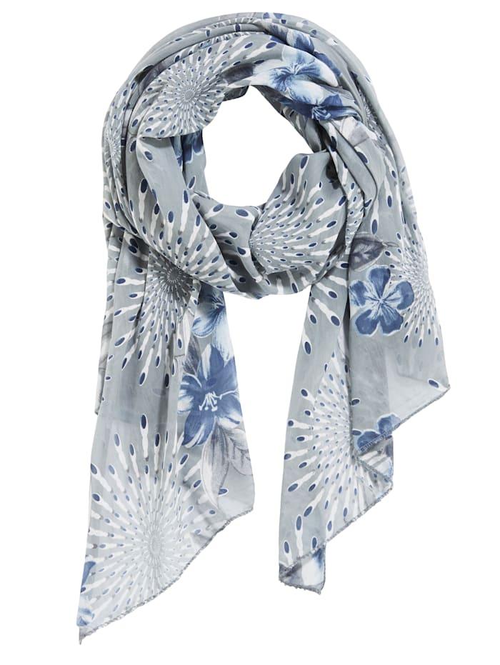MONA Schal Seide-Qualität, Blau/Grau