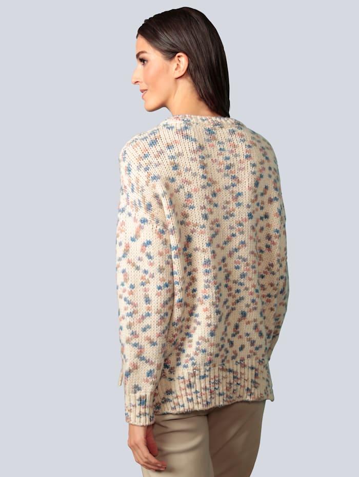 Pullover mit eingestrickten Farbtupfern
