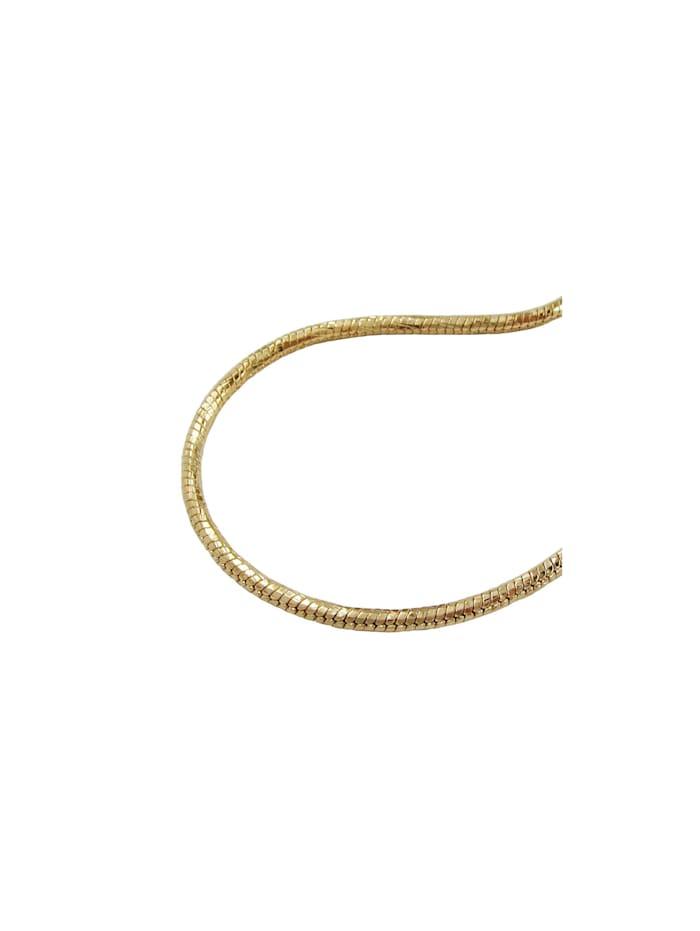Armband 2mm Schlangenkette rund diamantiert vergoldet AMD 19cm