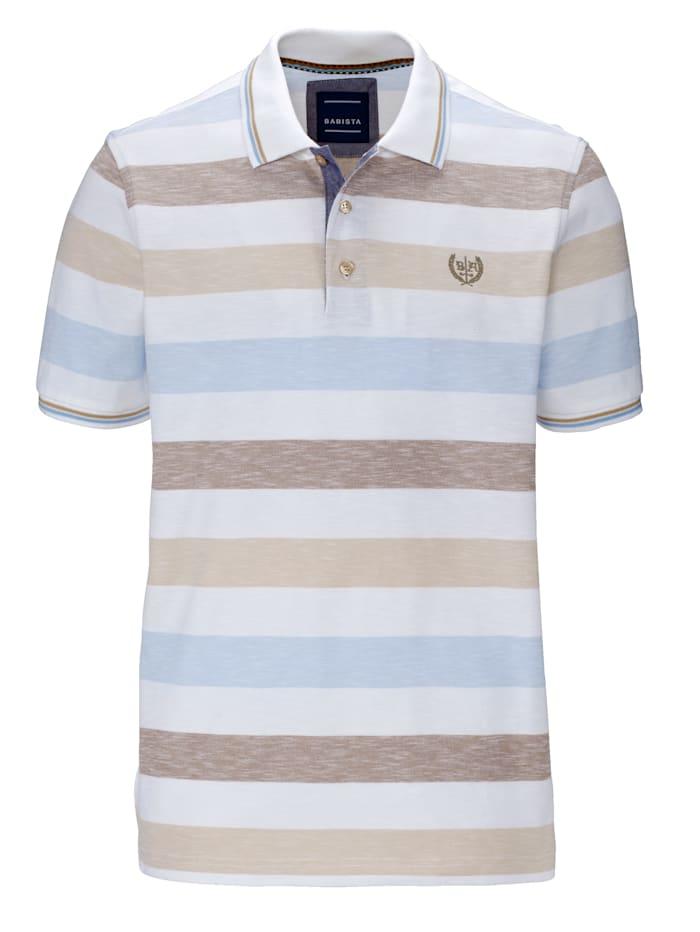 BABISTA Poloshirt in Melange-Optik, Weiß/Beige