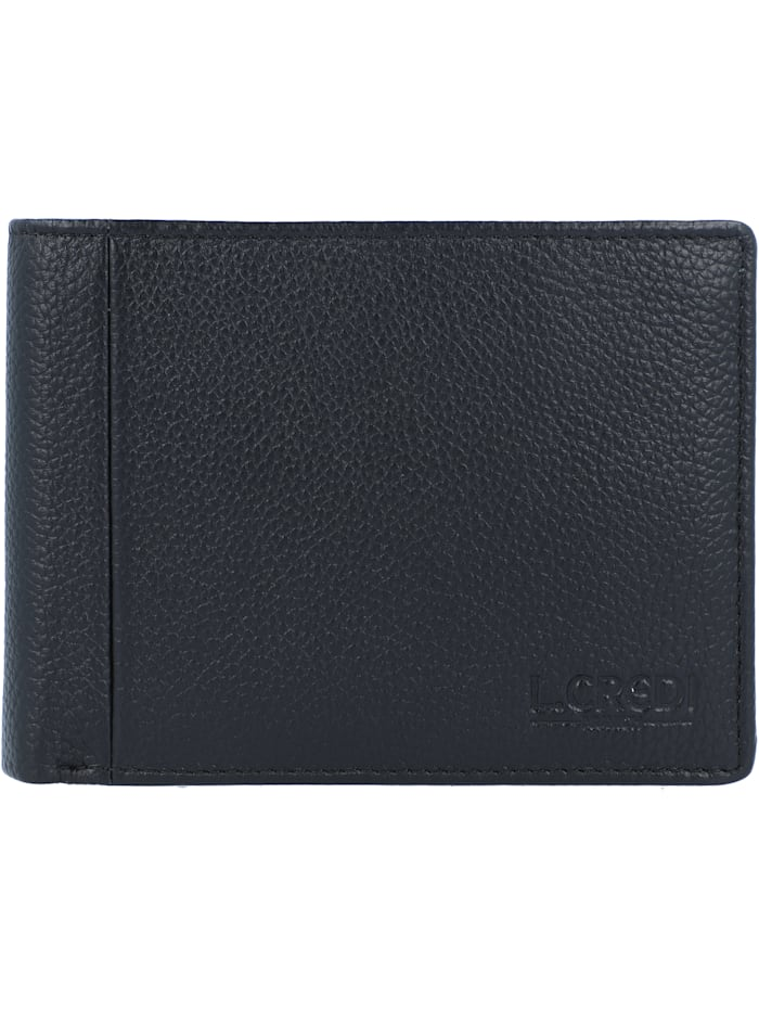 L.Credi Chrissi Geldbörse Leder 12 cm, schwarz