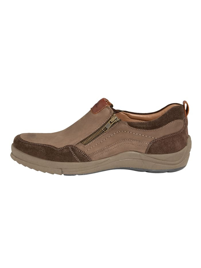 Slipper obuv s dodatočným zipsom