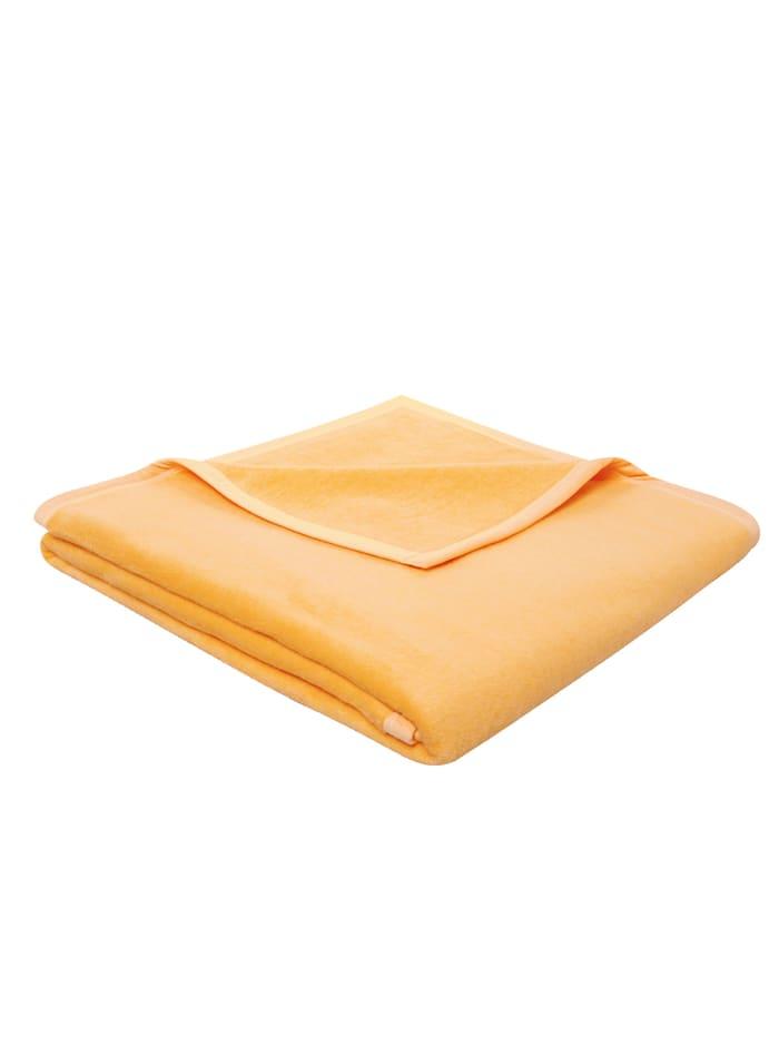 biederlack Wohndecke 'Pure Cotton', Gelb