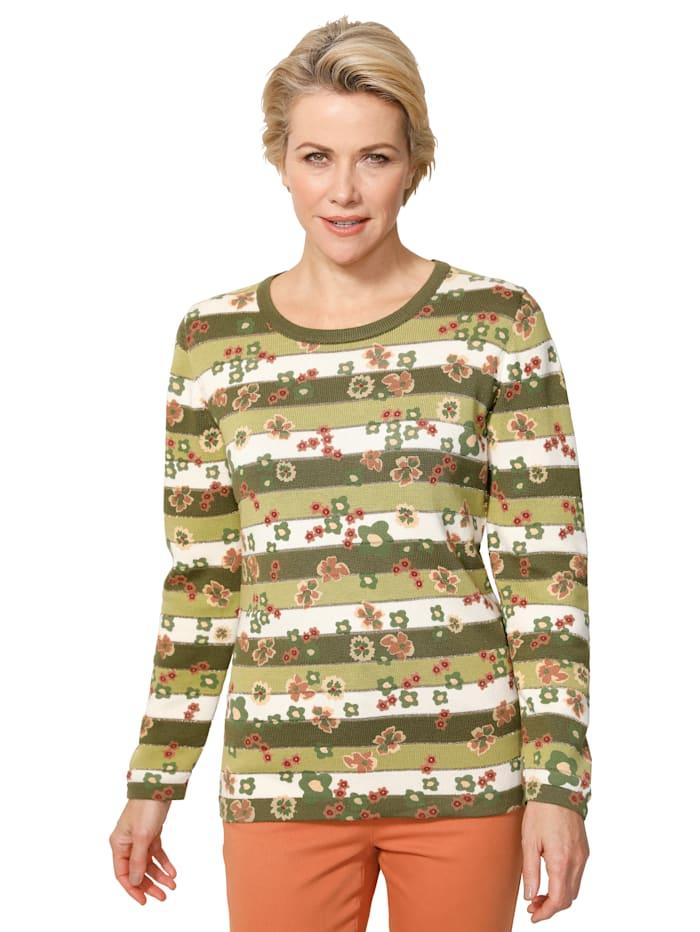Pullover mit bedruckten Blüten
