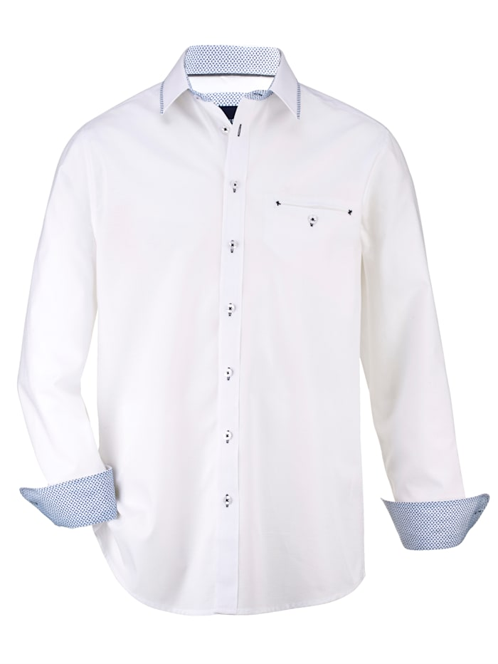 BABISTA Overhemd van fijn structuurmateriaal, Wit