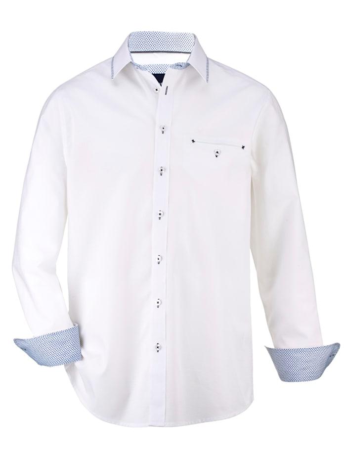BABISTA Skjorte i strukturert materiale, Hvit