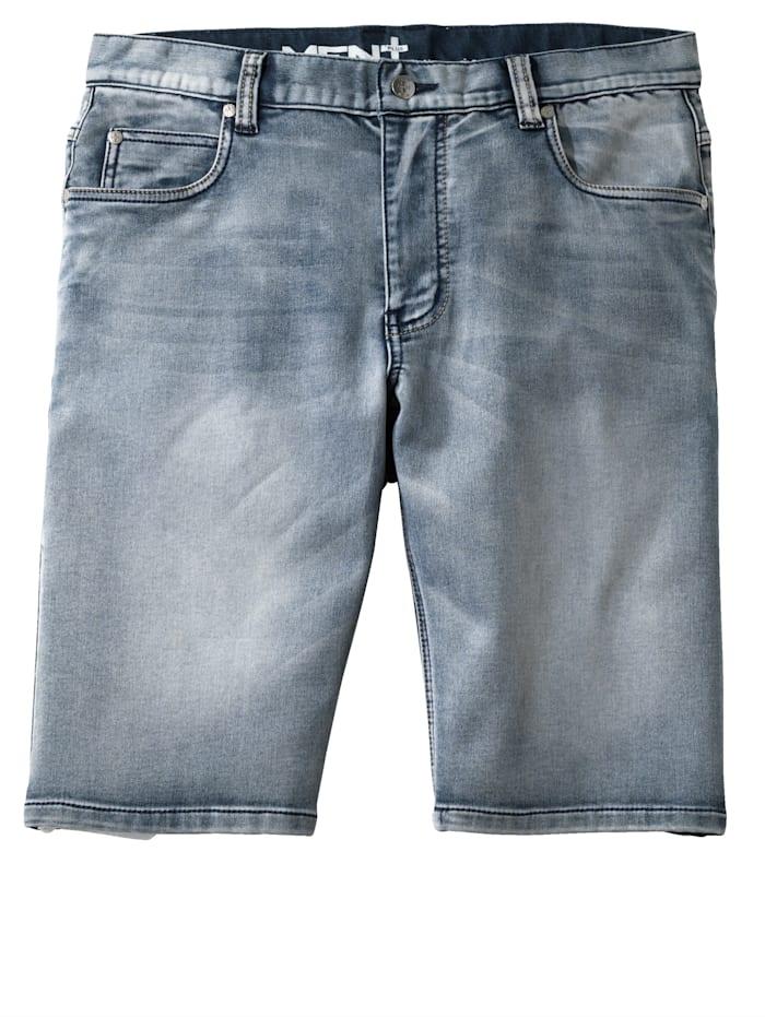 Men Plus Shorts, Blue bleached
