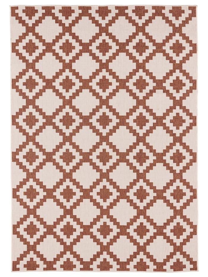 Webschatz Outdoorteppich 'Aurelian' mit Wendefunktion, Terracotta