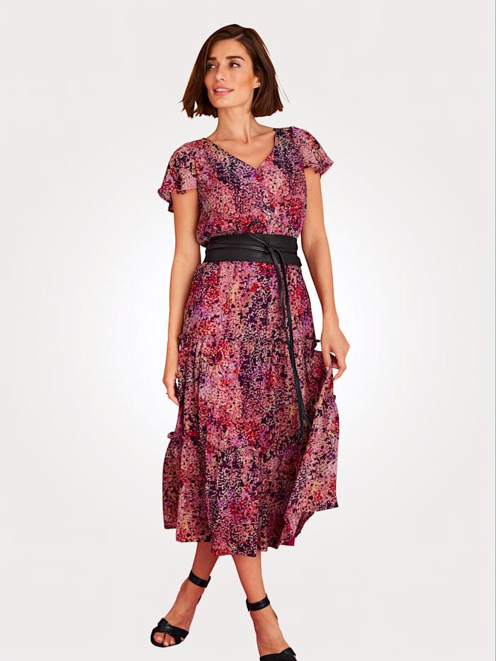 MONA Kleid in Millefleurs-Dessin, Rosé/Lila/Multicolor