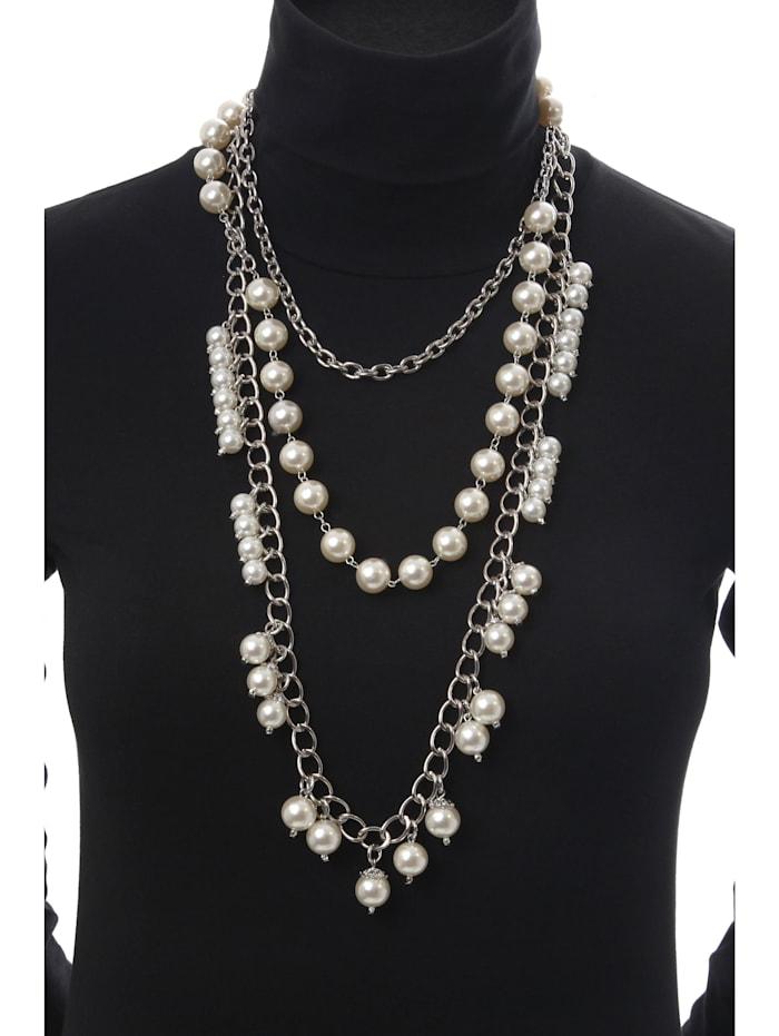 Lange Kette Paris mit unterschiedlichen Perlen