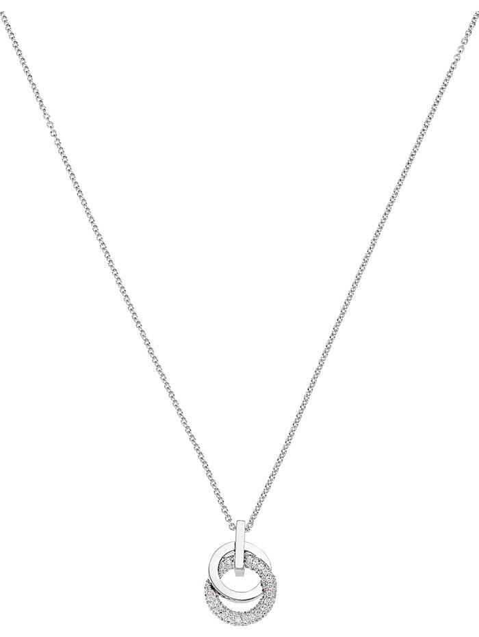 Jette JETTE Damen-Kette 925er Silber rhodiniert 62 Zirkonia, silber