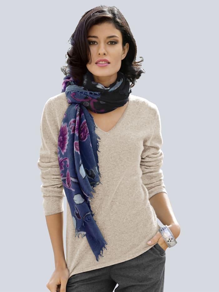 Alba Moda Pullover aus kuschelweichem Kaschmir, Beige