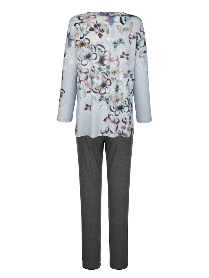Schlafanzug mit hübschem Schmetterlings-Dessin