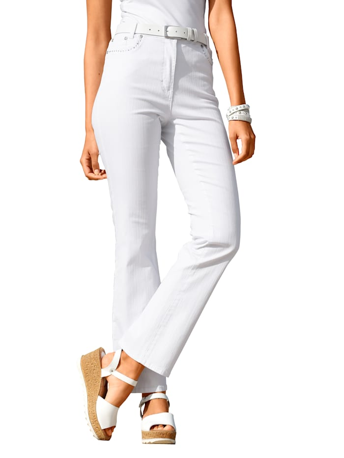 Paola Jeans Geschikt voor automobilisten, Wit