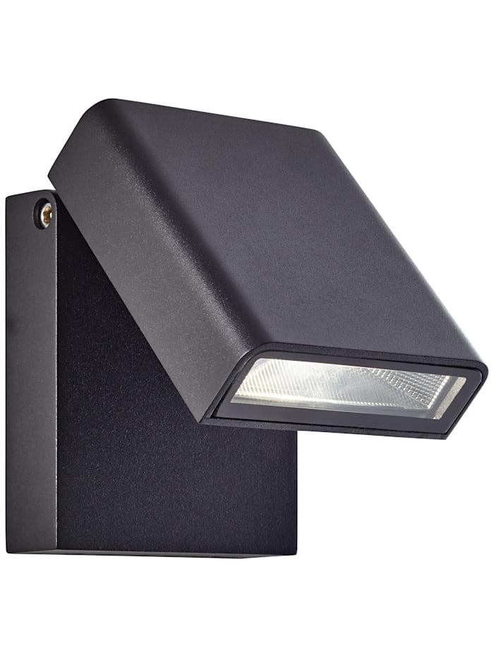 Brilliant Toya LED Außenwandstrahler schwarz, schwarz