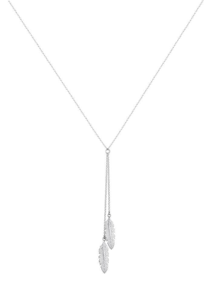 Halskette Feder Y-Kette Boho Trend 925 Silber