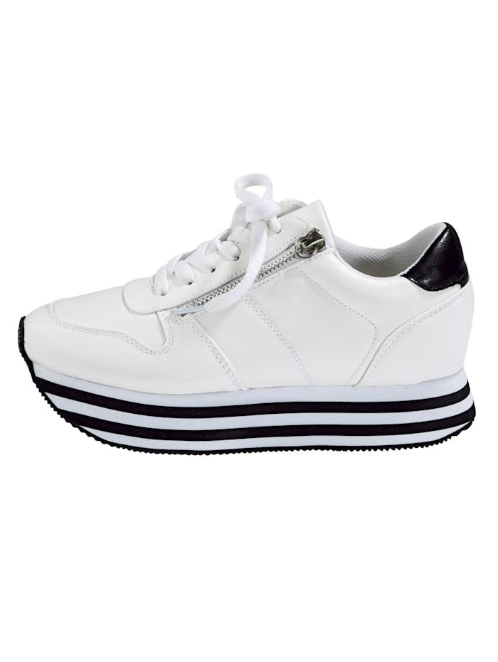 Sneakers à plateau à semelle de marche EVA à plateau bicolore