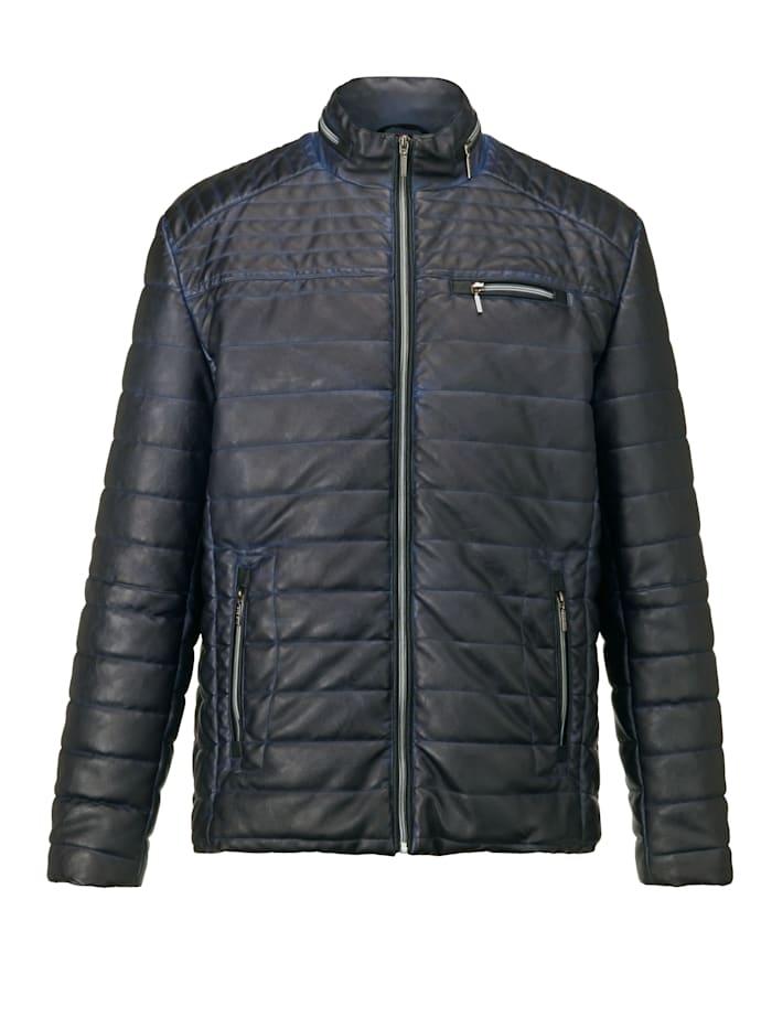 BABISTA Gewatteerde jas in modieuze used look, Donkerblauw