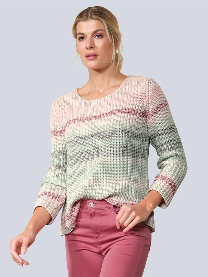 BRAX Pullover im Streifendessin, Rosé