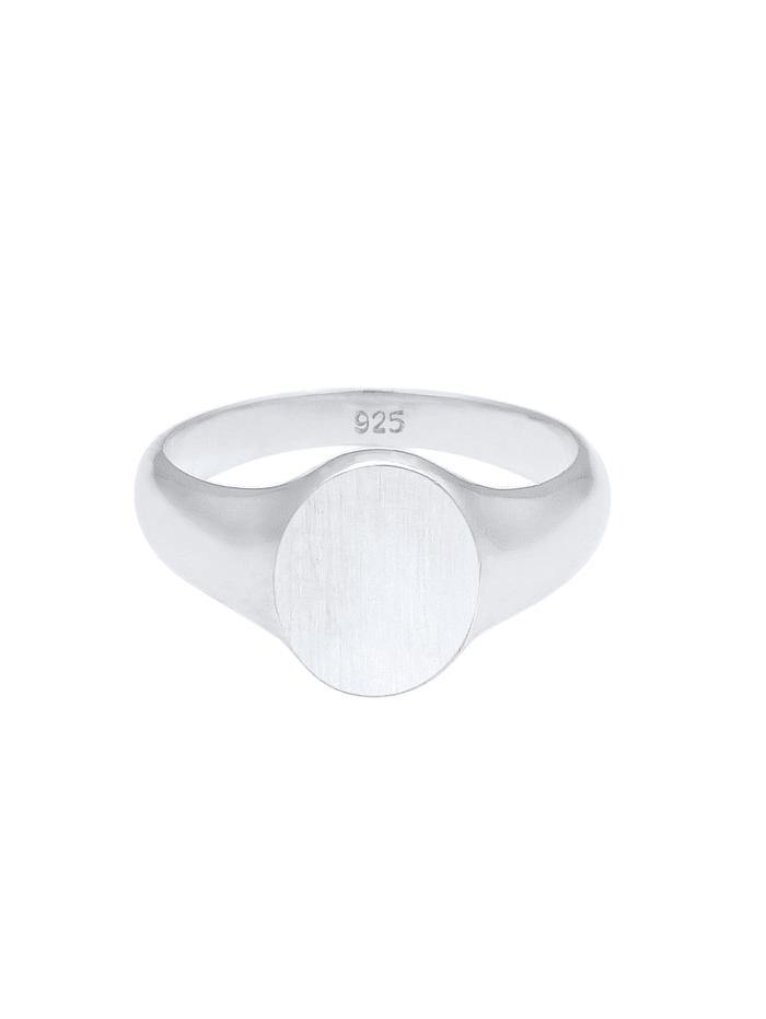 Ring Basic Cool Siegelring Herren Matt 925 Silber