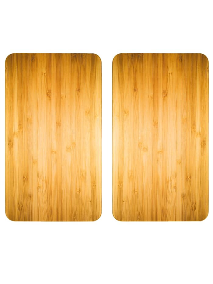 Wenko 2er-Set Herdabdeckplatten 'Holz-Optik', Holz-Optik