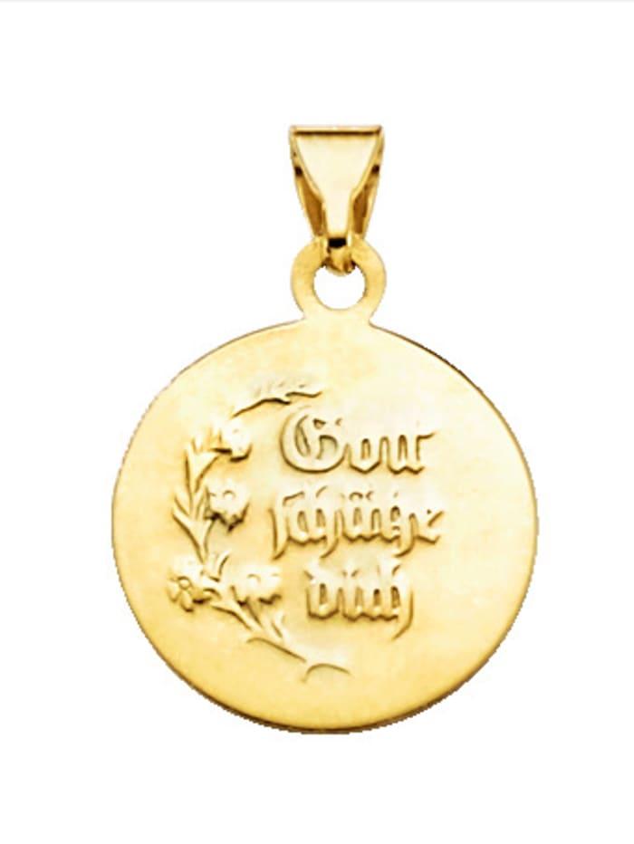 Pendentif 'Ange gardien' en or jaune 585