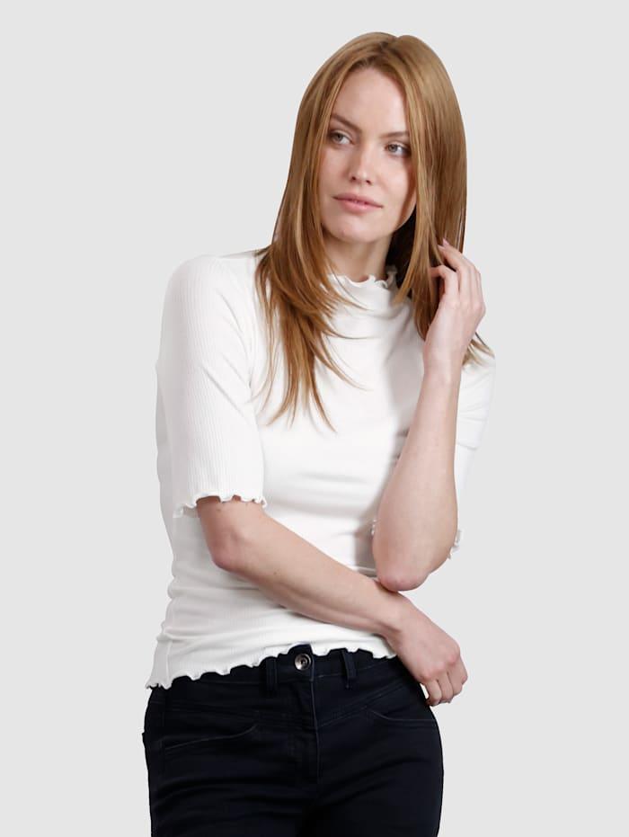 Laura Kent Shirt in geribde structuur, Offwhite