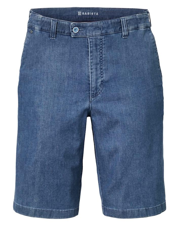 BABISTA Reise-Jeansbermuda mit 7 cm mehr Bundweite, Hellblau