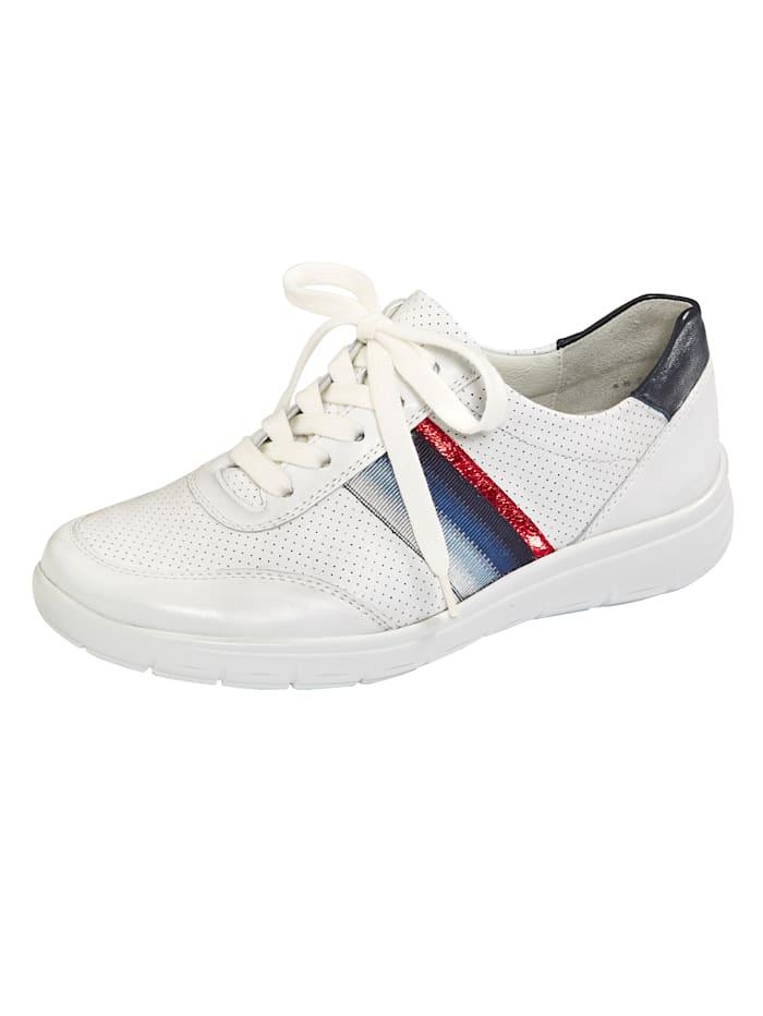 Vamos Derbies avec semelle de marche à coussin d'air, Blanc